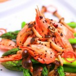 蟹味芦笋北极虾(十分钟搞定的健康快手菜菜谱)