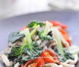 鸡丝蘑菇炒塌菜