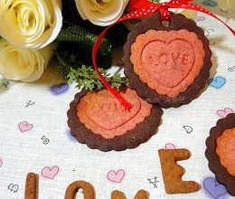 可可爱心饼干