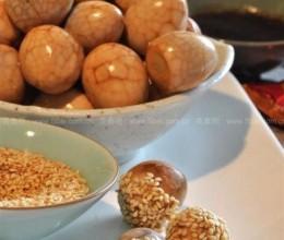 芝麻鹌鹑茶叶蛋