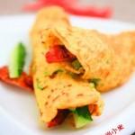 豆渣杏仁鸡蛋饼(早餐菜谱)