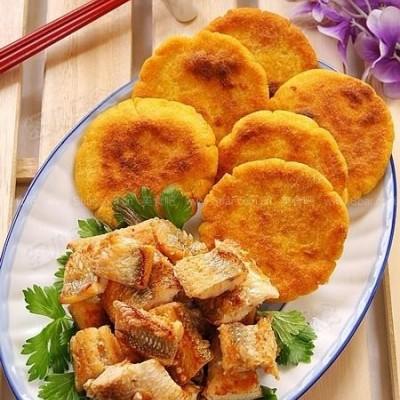 咸白梭鱼配玉米饼