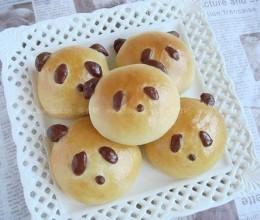家庭自制熊猫面包