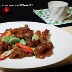 腊八蒜烧蹄筋 (荤菜菜谱)