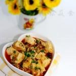 酱香肉末豆腐 (素菜菜谱)