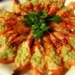 蒜蓉蒸虾 (十五分钟宴客菜谱)