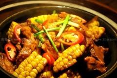 甜玉米焖猪展骨