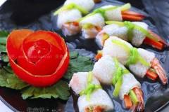 竹荪鲜虾卷