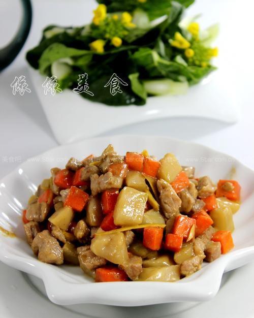 榨菜米饭(肉丁步骤的鸡胸做法)的菜谱杀手猫吃了生的小菜肉图片