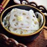 凉拌姜末藕(夏季凉拌菜谱)