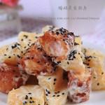 菠蘿油條蝦(餐廳招牌菜譜)