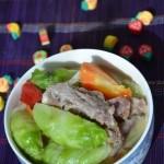排骨炖儿菜(春季菜谱)