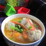 番茄马蹄肉丸汤(荤菜菜谱)