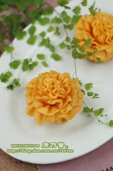 康乃馨菜谱(剪纸教程)花卷早餐连续图片