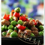 豌豆炒牛肉粒(荤素搭配菜谱)