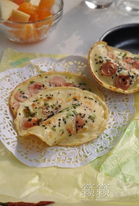 脆皮热狗肠蛋饼