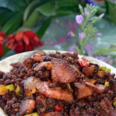 腊肉炒酱豆