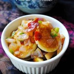 青椒洋葱虎皮蛋(荤菜食谱)