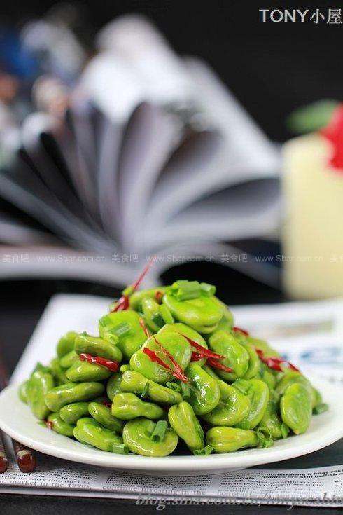 香葱爆蚕豆