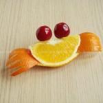 橙子螃蟹(水果拼盘菜谱)