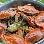南洋風味蔥姜海蟹(海鮮大餐菜譜)