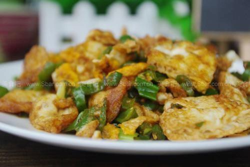 青椒炒荷包蛋