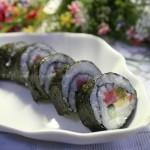 沙拉酱寿司,鱼子酱寿司(早餐菜谱)
