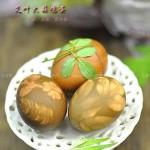 艾叶大蒜煮鸡蛋(端午节菜谱-做出漂亮印花鸡蛋的秘诀)