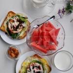 吐司比萨(5分钟早餐菜谱)