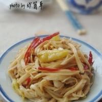 雙椒炒菇絲