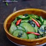 紫苏煎黄瓜(夏日清新小菜菜谱)
