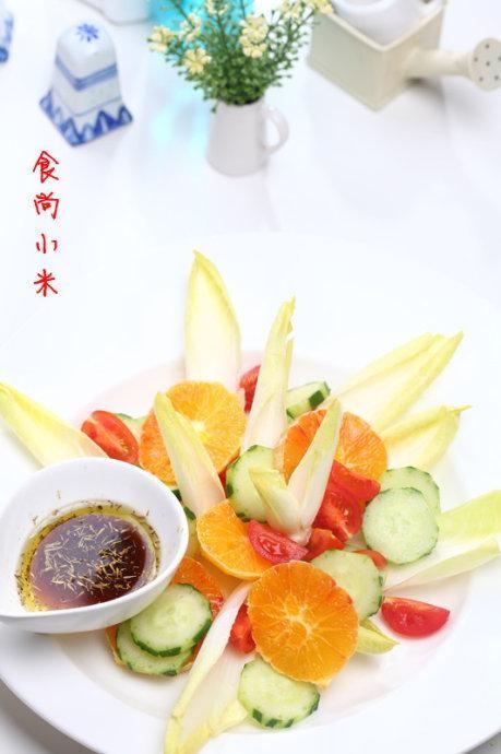 血橙菊苣油醋汁沙拉