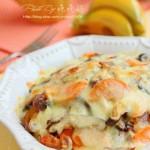 火腿菌菇焗饭(一个人晚餐菜谱)