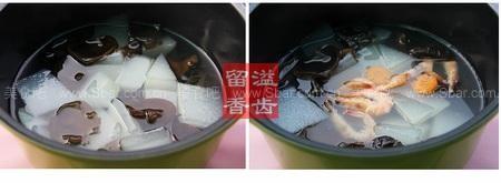 冬瓜鲜虾味噌汤