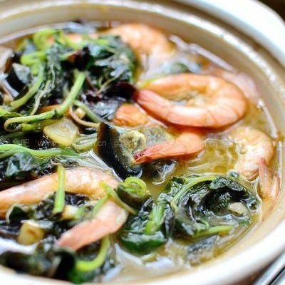 鲜虾皮蛋苋菜煲