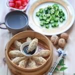 酸菜鲜肉柳叶蒸饺(早餐菜谱)