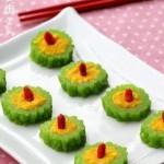 黄油南瓜焗苦瓜(素菜菜谱)