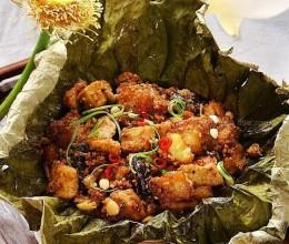 土豆豆腐荷叶素粉蒸肉