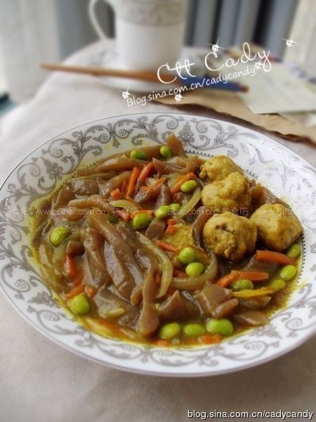 咖喱章鱼丸魔芋条