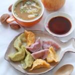 牛肉金针彩色饺子(早餐菜谱)