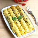 黑芝麻鸡蛋饼(10分钟早餐菜谱)