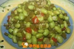 毛豆炒酸豇豆