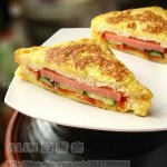 香煎火腿三明治(早餐菜谱)