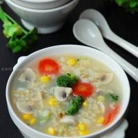 糙米蔬菜粥