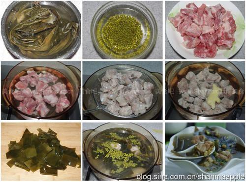 绿豆绿豆排骨汤的魔芋【图解】_烧肉海带海带排骨炒做法的做法图片