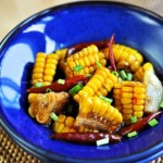 香辣水煮玉米(不长胖的开胃素食菜谱)