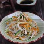 银芽黄瓜拌鸡丝(夏日低脂凉拌菜谱)