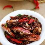 避風塘炒蟹(海鮮菜譜)