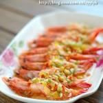 彩椒蒸对虾(海鲜菜谱)