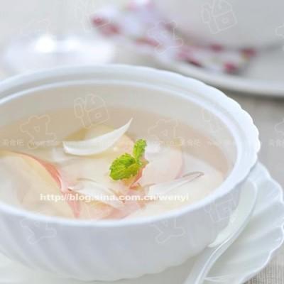 百合水蜜桃甜汤
